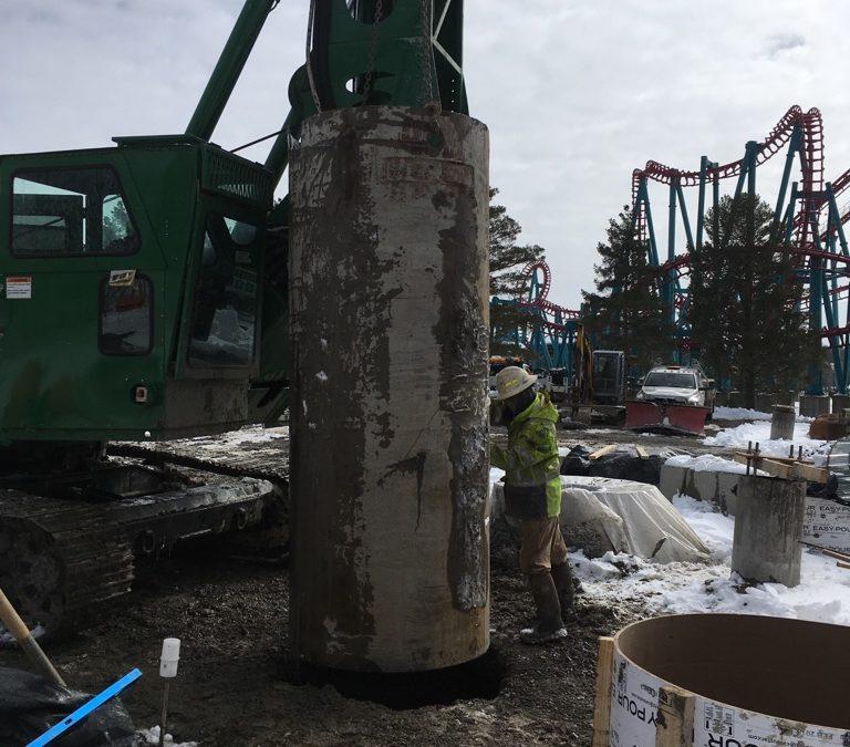 Work Continues on Darien Lake's New Tantrum Coaster