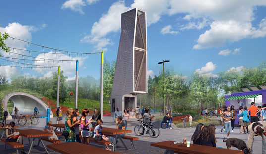 Buffalo Outer Harbor Proposed Pedestrian Bridge and Bell Tower
