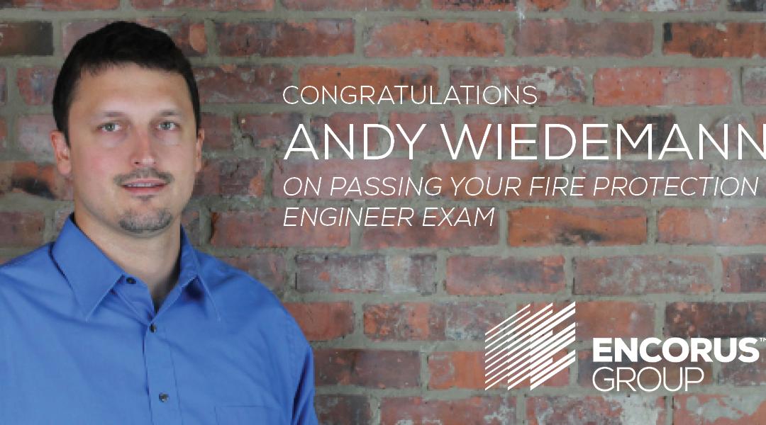 Andy Wiedemann Earns PE License